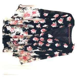 Choies Other - Black and pink floral romper